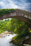 Old bridge over Miera river Royalty Free Stock Photos