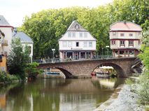The old bridge over the Nahe Stock Photography