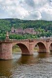 Old bridge over Neckar river in Heidelberg Royalty Free Stock Images