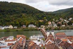 Old bridge over the neckar river in heidelberg Royalty Free Stock Image