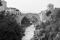 The Old bridge over the Neretva River Stock Photo