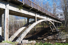 Old bridge over the river Stock Photography