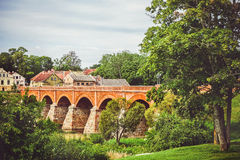 Old bridge over the river Royalty Free Stock Photos