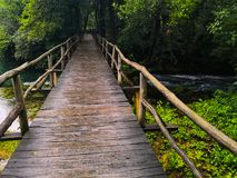 An old bridge over the river royalty free stock photography