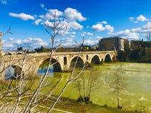 Old bridge over river tiber