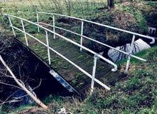 Vintage Dutch bridge stock photo