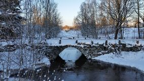 Old bridge. Over a stream, not used anymore royalty free stock photos