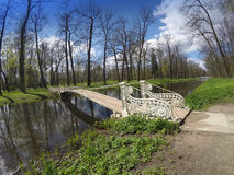 The old bridge in park Royalty Free Stock Photography