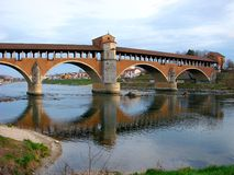 The old bridge of Pavia royalty free stock image