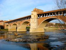 The old bridge of Pavia royalty free stock photo