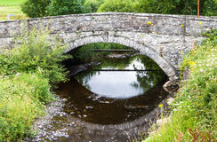 Old Bridge, Pentrefoelas, Conwy County. stock photo