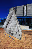 Old bridge pyramid landmark -Wellington, New Zealand Stock Image