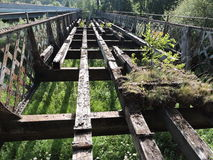 Old bridge remains, Lithuania Royalty Free Stock Photo