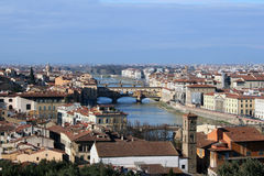 Old Bridge and river Arno, Florence, Tuscany Stock Image