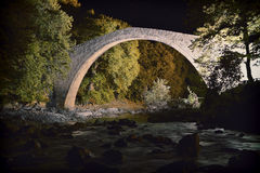 Old bridge. Old river and bridge in greece royalty free stock photo