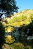 Cerreto,old,Bridge,annibale. Old bridge with river and mountain. Cerreto Sannita.  Italy Royalty Free Stock Photography