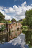 Old bridge and river by Verulanium Park in St Albans, Royalty Free Stock Photos