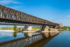Old bridge on the river Vistula. Royalty Free Stock Photography