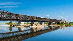 Old bridge on the river Vistula. Stock Image