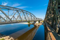 Old bridge on the river Vistula. Royalty Free Stock Photos