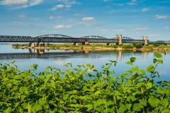 Old bridge on the river Vistula. Royalty Free Stock Image