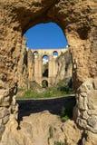 Old bridge at Ronda, Andalusia, Spain Stock Images