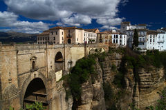Old bridge in Ronda  city Andalusia Royalty Free Stock Image