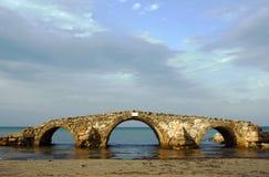 Old bridge in ruins Stock Photo