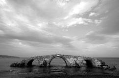 Old bridge in ruins Royalty Free Stock Photo
