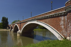 Old Bridge in Sisak, Croatia. Old bridge crossing the river Kupa in Sisak, Croatia royalty free stock photos