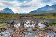 The Old Bridge at Sligachan Royalty Free Stock Photography