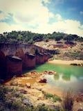 Old bridge. In Spain Andalusien water royalty free stock photos