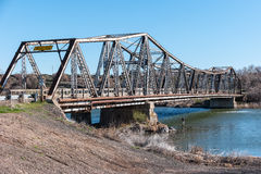 Old bridge spans the Snake River, Idaho Royalty Free Stock Photos