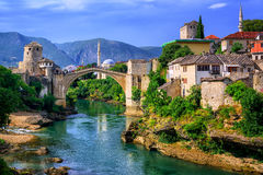 Old Bridge Stari Most in Mostar, Bosnia and Herzegovina Stock Photography
