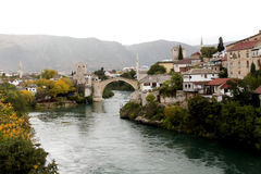 Old Bridge(Stari most) in Mostar Royalty Free Stock Images
