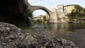 Old bridge stock video footage