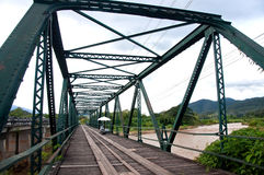Old bridge. The old bridge structure in Thailand Royalty Free Stock Photography