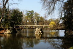 Old bridge - tilt shift effect Royalty Free Stock Photo