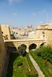 Old bridge to castle in Vittoriosa Stock Images