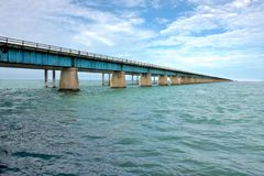 Old bridge to Key West Royalty Free Stock Image