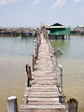 Old bridge to the sea. Stock Photography