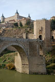 Old bridge in Toledo stock photo