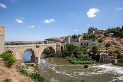Old bridge in Toledo, Spain Royalty Free Stock Images