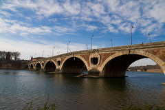 Old Bridge in Toulouse Royalty Free Stock Photo