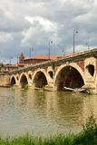 Old bridge in Toulouse. Old bridge (le point neuf) on the Garonne in Toulouse, France Stock Photos