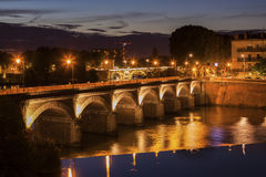 Old bridge in Toulouse. Toulouse, Occitanie, France Royalty Free Stock Image