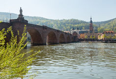 Old bridge into town of Heidelberg Germany Stock Photos