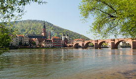 Old bridge into town of Heidelberg Germany Royalty Free Stock Image