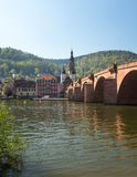 Old bridge into town of Heidelberg Germany Royalty Free Stock Images