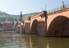 Old bridge into town of Heidelberg Germany Royalty Free Stock Image